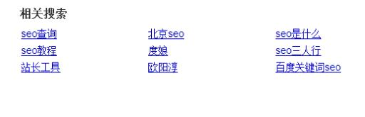 SEO的相关搜索词